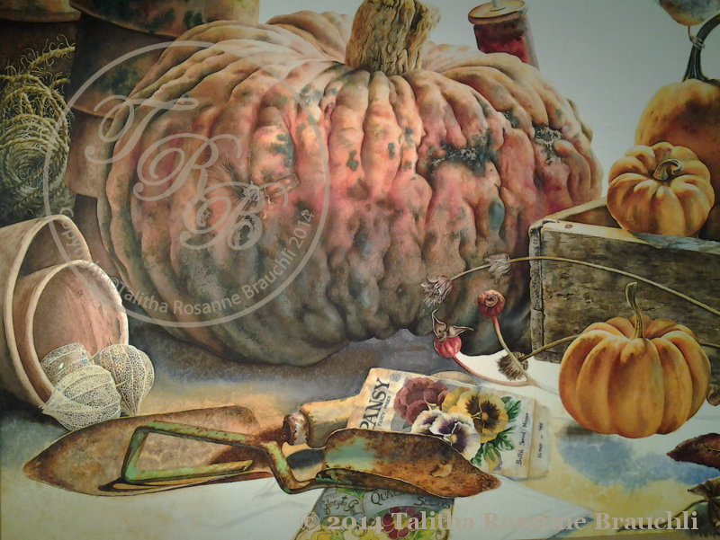 pumpkin painting incomplete