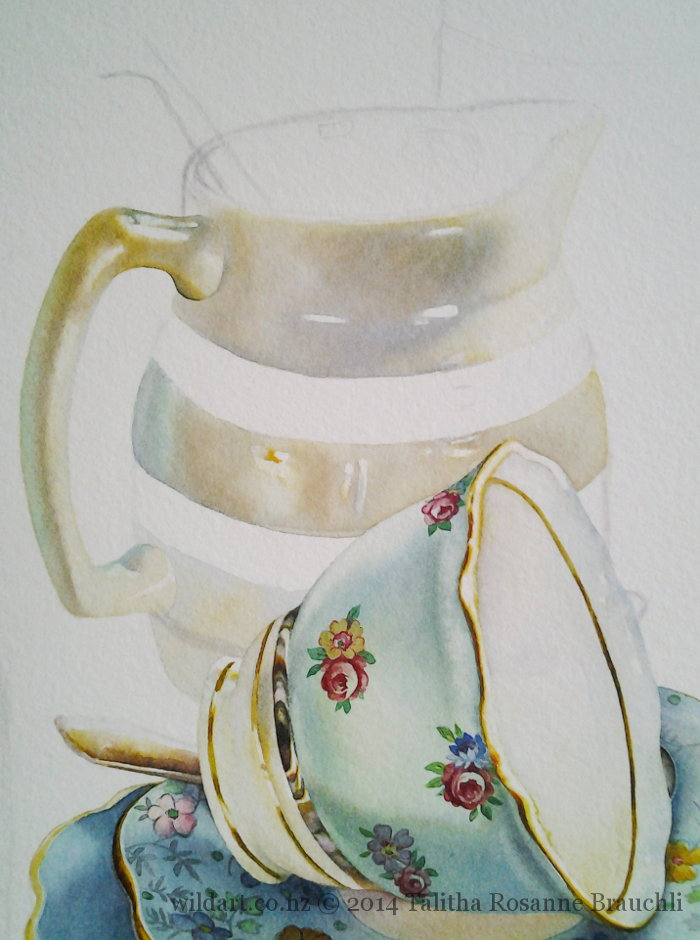 Milk Jug Painted by Talitha Brauchli
