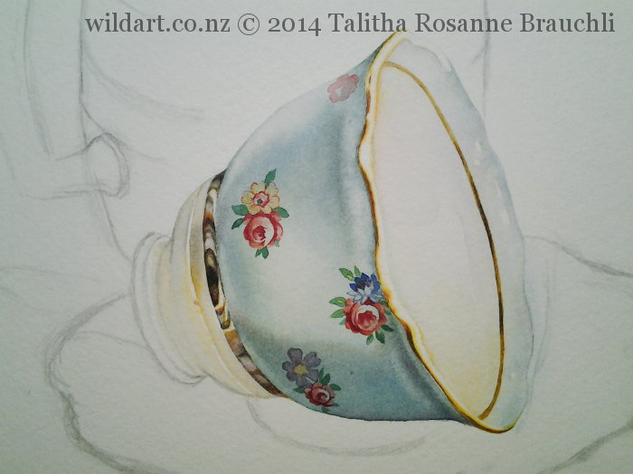 Painting of a Teacup by Talitha Brauchli 2