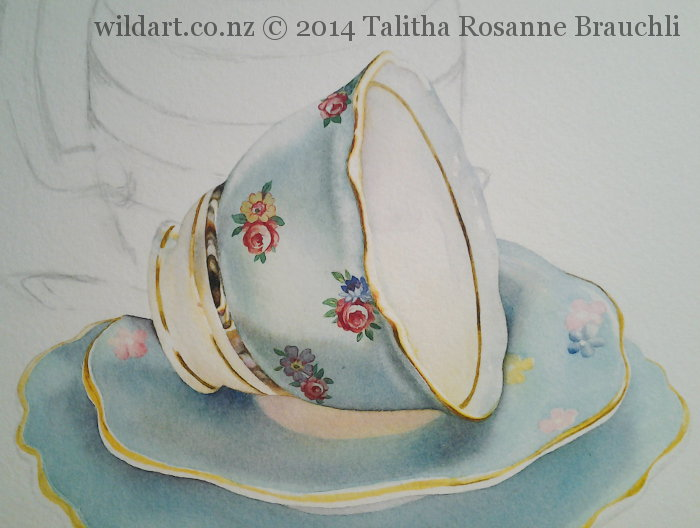 Painting of a Teacup by Talitha Brauchli 3