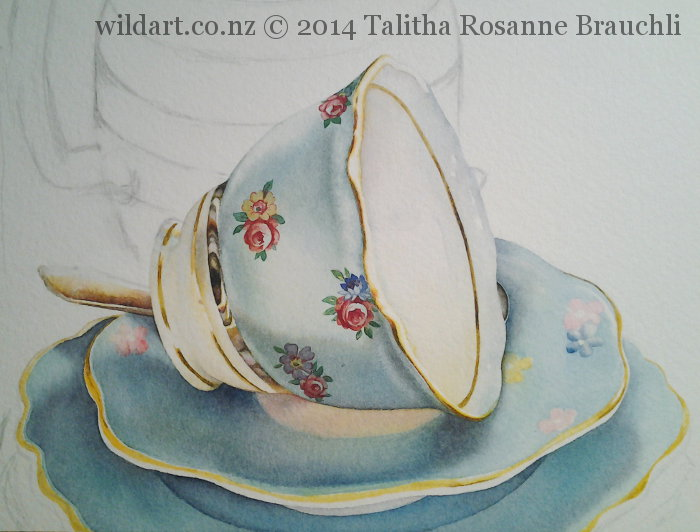 Painting of a Teacup by Talitha Brauchli 4