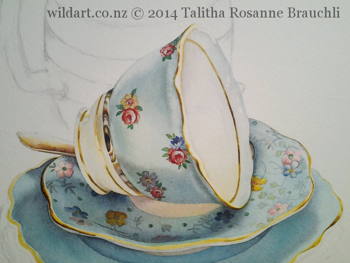Painting of a Teacup by Talitha Brauchli 5